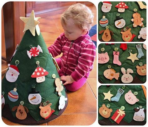 diy kids play felt christmas tree tutorial