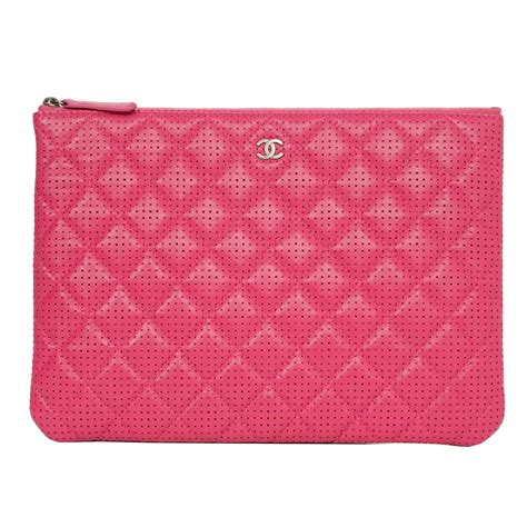 Ocase Lambskin With Box 1 chanel 2015 pink perforated lambskin quot o quot clutch