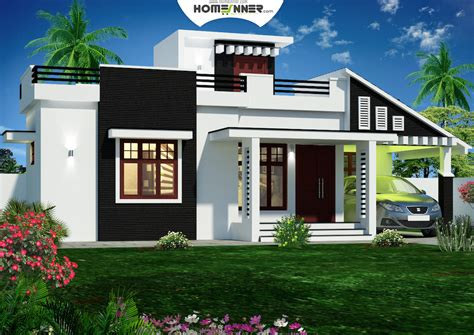 indian home design 2bhk 900 sq feet kerala house plans 3d front elevation