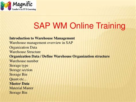 tutorial sap wm team training and development warehouse management
