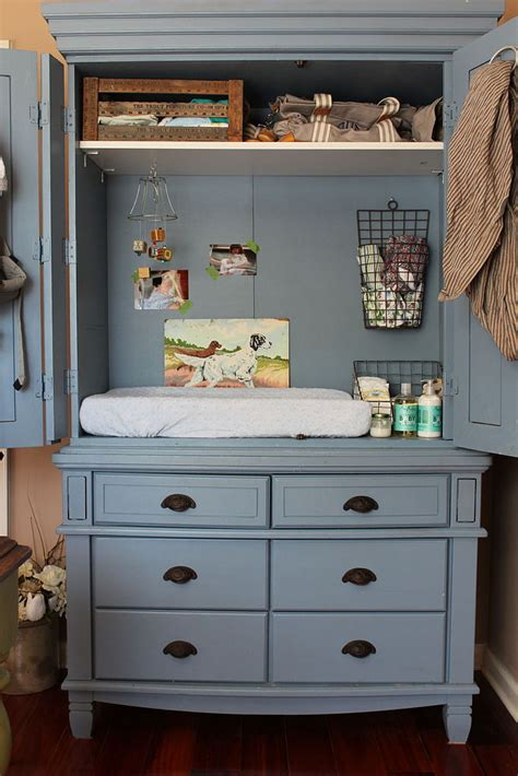 changing table entertainment armoire repurpose bedroom