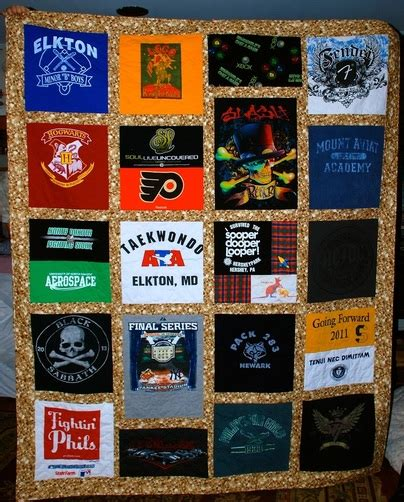 A Quilt Out Of T Shirts by T Shirt Quilts Lefty Quilter Creations
