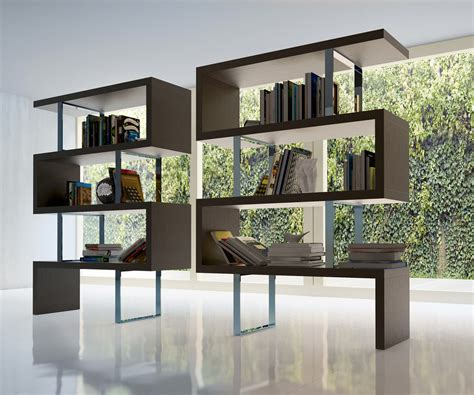 contemporary shelving contemporary bookcase with three color options los angeles