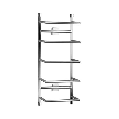 wall mounted bathroom towel rack brushed steel wall mount towel rack crate and barrel