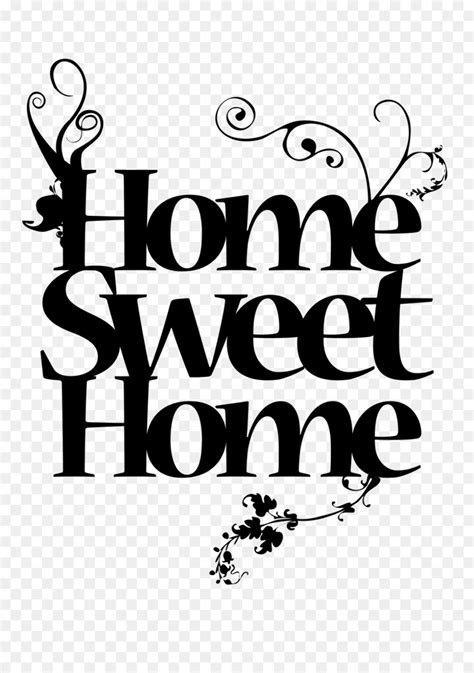 high quality home sweet home clipart calligraphy