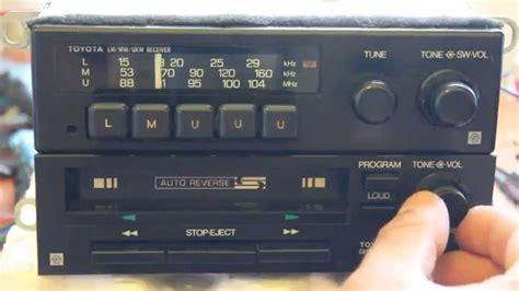 cassette car stereo toyota fujitsu ten 1801 cassette player toyota