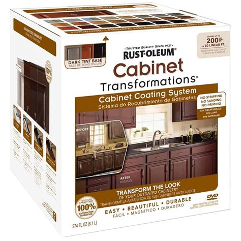kitchen cabinet painting kit shop rust oleum cabinet transformations dark base satin