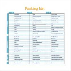 vacation list template packing list templates 6 free documents in pdf