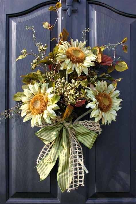 Sunflower Door Wreath by Sunflower Wreath Wreaths Summer Wreaths For Door Summer
