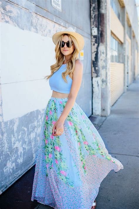 how to look casual chic in maxi skirts glam radar