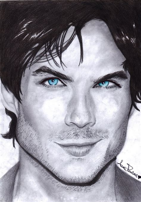 the art of ian ian somerhalder or damon salvatore by aoisayzuki on