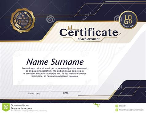 comp card design template pages certificate of achievement frame design template layout