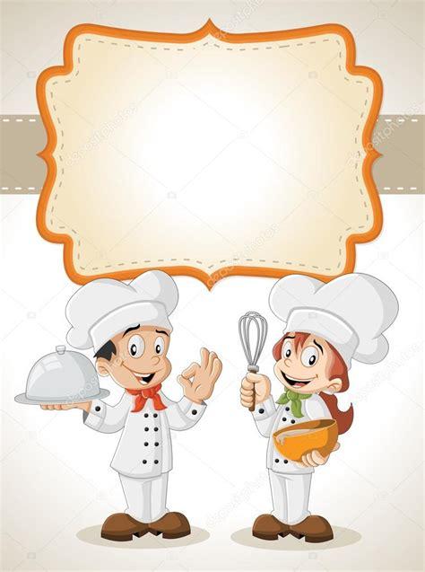 cocina chef chefs de dibujos animados de cocina vector de stock