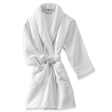 bed bath and beyond robes haven spa waffle robe in white bed bath beyond