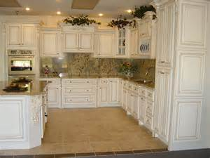 Kitchens With Antique White Cabinets by Kitchen Glazing Your Cabinet For A Wonderful Antique