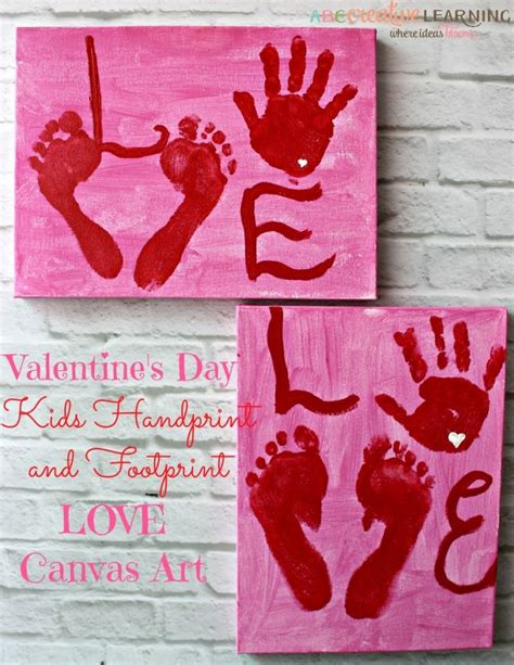 valentines day poems for grandparents s day handprint and footprint canvas