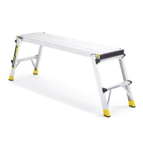 drywall bench home depot gorilla ladders aluminum slim fold work platform with 250