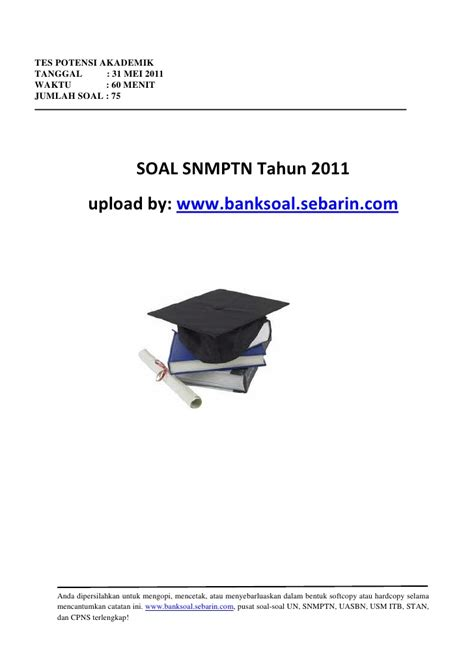 Soal Soal Tpa Tes Potensi Akademik tes potensi akademik snmptn 2011