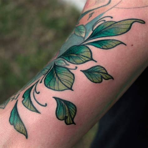 leaf tattoos these colors pinteres