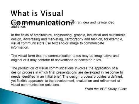 visual communication design guide visual communication ppt download