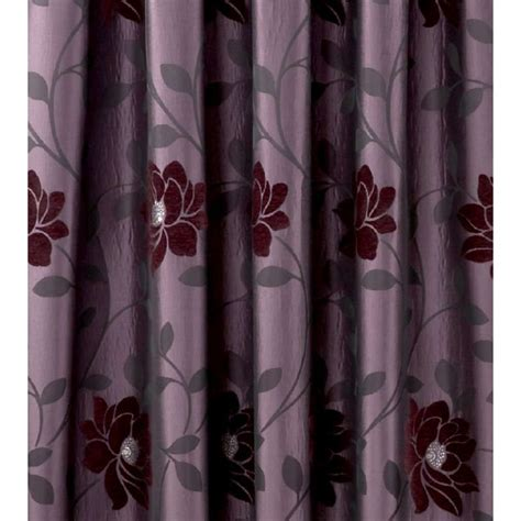 aubergine and green curtains sundour carnaby aubergine floral pencil pleat ready made