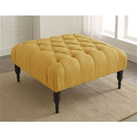 upholstered tufted ottoman button tufted upholstered ottoman yellow