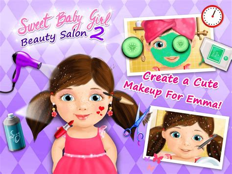 girl house games sweet baby girl beauty salon 2 game created with tutotoons
