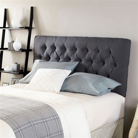 Overstock Upholstered Headboards by Humble Haute Hton Charcoal Tufted