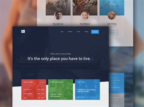 html one page template free quot cardio quot one page website template free