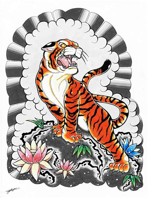 traditional japanese tiger tattoo designs japanese tiger drawing www pixshark images