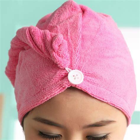 Hair Dryer Or Towel towels bathroom toalha de banho kitchen towel 1pcs womens magic hair drying hat cap