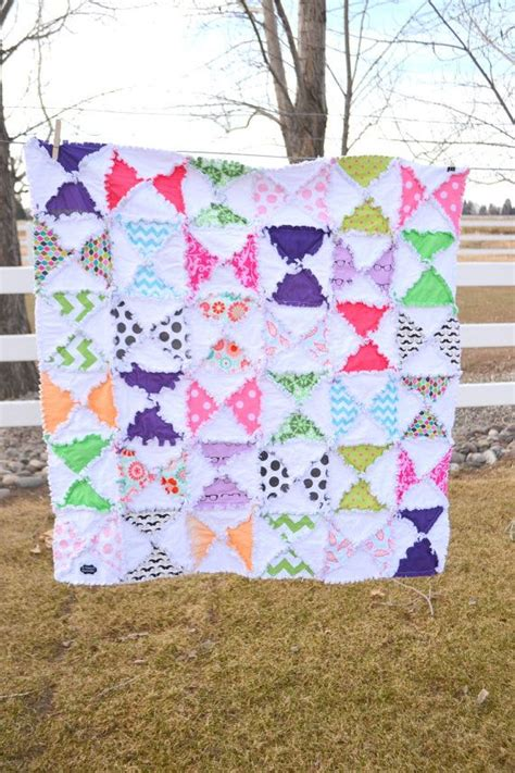 Baby Blanket Quilt Patterns by Pattern Rag Quilt Hourglass Triangle Baby Blanket