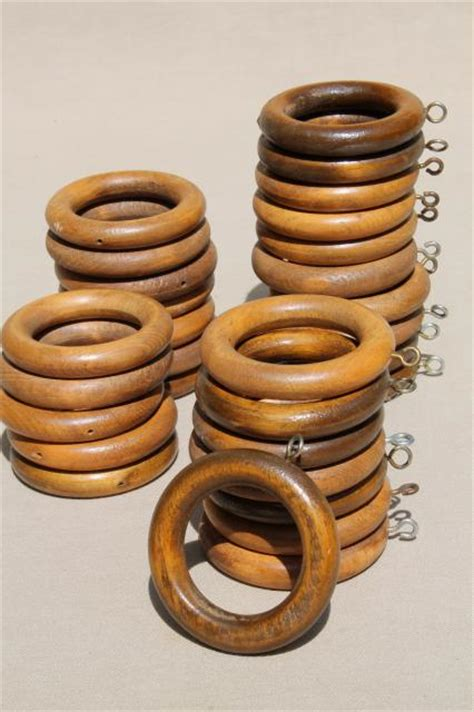 wooden drapery rings 70s vintage wood curtain rings big groovy retro boho