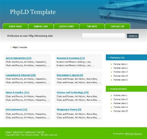 Free Download Program Template By Web Directory Free Phpld Templates Veryletitbit Web Directory Template