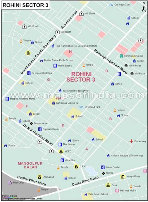 Rohini Sector 3 Map,Delhi