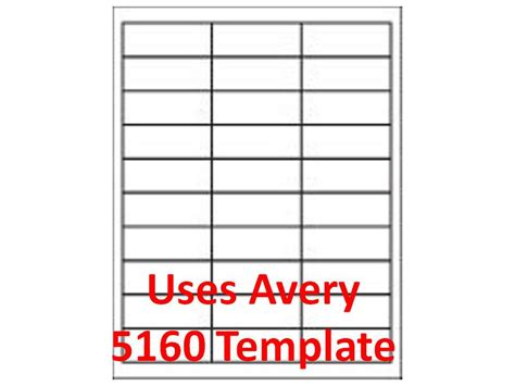 Avery Templates 5160 by 5160 Template Laser Inkjet Labels 3 000 1 Quot X 2 5 8