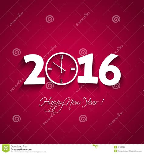 new year 2016 backdrop design 2016 happy new year with clock shape on background