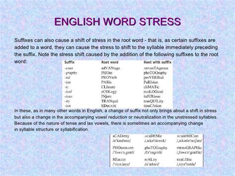 stress pattern english language english word stress