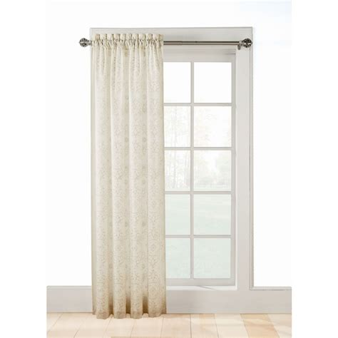 lined sheer curtains shop allen roth jana 63 in ivory polyester rod pocket