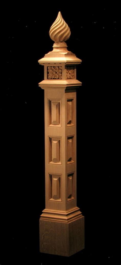 spiral finial newel post columns  newel posts