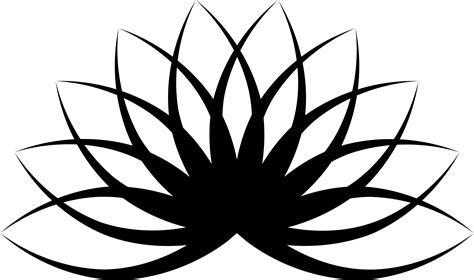 Line Arts clipart lotus line 2