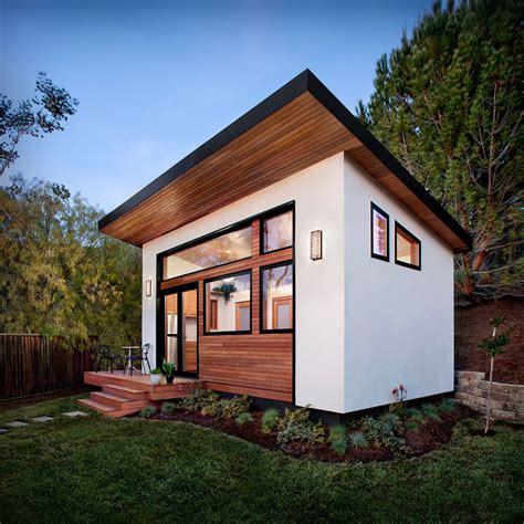 tiny backyard houses this small backyard guest house is big on ideas for compact living contemporist