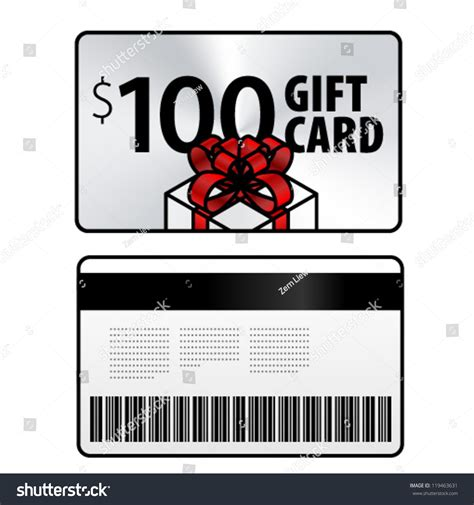 Gift Card Buy Back Near Me - 100 gift card front back shown stock vector 119463631 shutterstock