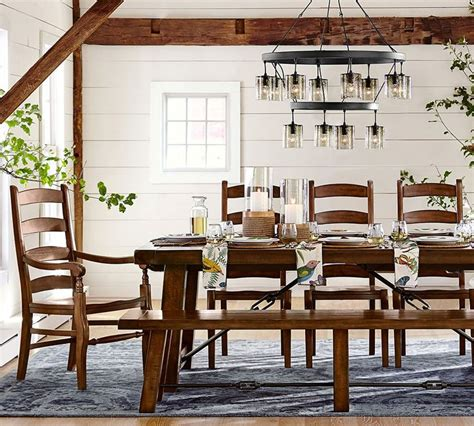 Barn Style Dining Room Table by Refresh Your Dining Room With New Napkins Chargers And