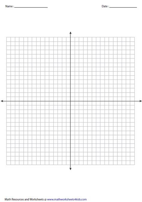 printable graph paper x y axis printable graphing paper with x and y axis free blank