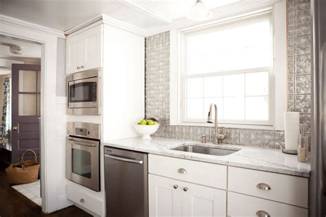 white tin backsplash 5 ways to redo kitchen backsplash without tearing it out
