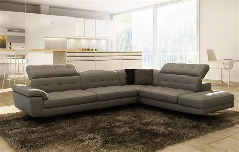 Contemporary Full Italian Leather Sectionals Birmingham Modern Sofas
