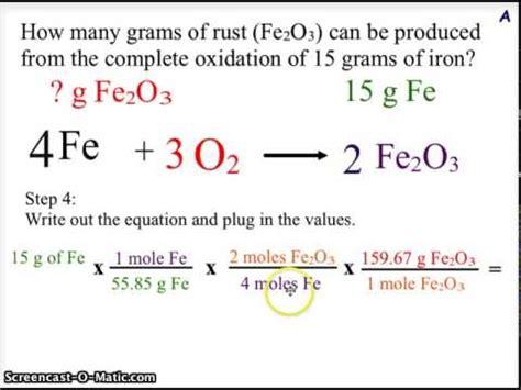 Chemistry Stoichiometry Worksheet
