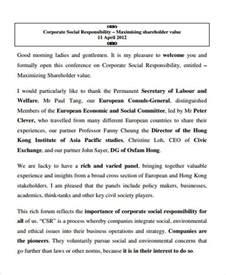 company speech 52 introduction speech sles