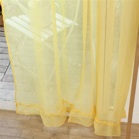 Yellow Ruffle Curtains Ruffle Curtain